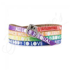 Bratara We Positive Rainbow Color #magazindefashion