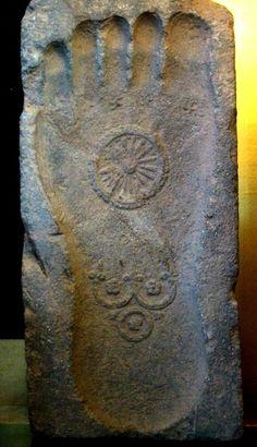 Footprint of the Buddha. 1st century Gandhara. ZenYouMitsu Temple, Tokyo. (Actually, it's from Sasquatch)