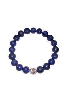 Men's Wristband with Blue Lapis - Nialaya Jewelry