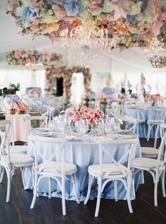 light blue and blush pink wedding table ideas Blue And Blush Wedding, Blush Wedding Colors, Dusty Blue Weddings, Periwinkle Wedding, Pastel Wedding Colors, Small Weddings, Tent Wedding, Wedding Table, Wedding Ceiling