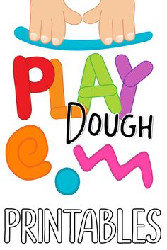 70+ Play Dough Printables.  Playdough Alphabet Mats, Number and Counting Mats, Play Dough Shape Mats, Picture Building, Warm-up Exercises and more!