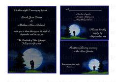 Full Moon Wedding Invitation Template Under Set