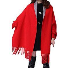 Partiss Damen Frauen Koreanische Einfarbig Quasten Stricken Wolle Strickjacke Schal Pullover, Small,Red Partiss http://www.amazon.de/dp/B01BW9S702/ref=cm_sw_r_pi_dp_efRXwb066EQ0S