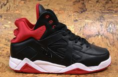 Fila Cage 'Black' - Now Available Now available from Fila is the 2012 retro of the classic Cage. Originally released in the kicks return with their signature heel counter and large Fi Nike Huarache, Basketball Shoes, Vintage Designs, Reebok, Air Jordans, Kicks, Sneakers Nike, Footwear, Pumps