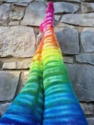 Image result for rrainbow tie dye thigh socks