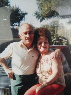 "Grandparents on my dads side. Leonard ""Lalo"" and Estella Delgado"