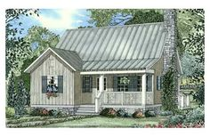 1178 sq. ft., sweet little country home with 1 bedroom, loft, 2 bath, fireplace, front and back porch