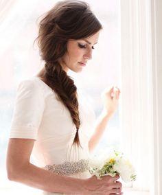 QUIERO UNA BODA PERFECTA: Tutorial: Trenza lateral (Fishtail) para la novia