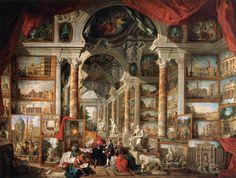 Galleria di quadri con viste della Roma moderna, Giovanni Paolo Pannini, 1759, Musée du Louvre, Paris