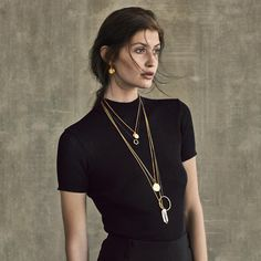 Check out our fabulous moon collection - here on Augusta Beyer🌝 #jewellery #autumncollection #hultquist #hultquistcopenhagen #gold #silver #rosegold #earring #necklace #bracelet #danishdesign