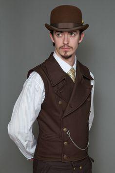 LastWear Clothing Co's Pinkerton Vest in Brown