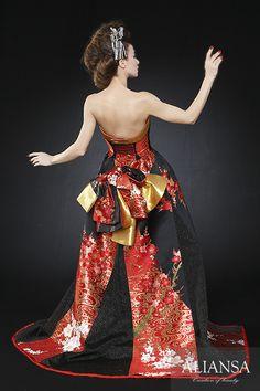 和ドレス・ウェディングドレスレンタルのアリアンサ 着物ドレス・打掛ドレス・カラードレス・コンテストドレスのオーダーメイド、レンタル・ドレス制作、販売 Formal Dresses, Fashion, Long Party Dresses, Tea Length Formal Dresses, Moda, Formal Gowns, Fashion Styles, Black Tie Dresses, Gowns