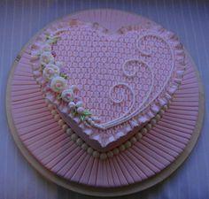 Smocking cake - Cake by Nadia Cake Icing, Fondant Cakes, Cupcake Cakes, Kid Cakes, Cupcakes, Heart Shaped Cakes, Heart Cakes, Beautiful Cakes, Amazing Cakes