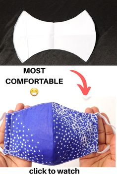 Small Sewing Projects, Sewing Hacks, Sewing Tutorials, Sewing Crafts, Tutorial Sewing, Diy Crafts, Dress Tutorials, Easy Face Masks, Diy Face Mask