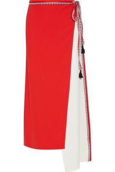 La Ligne | Asymmetric wrap-effect crepe skirt | NET-A-PORTER.COM