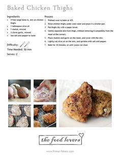 baked chicken thighs - Click image to find more Other Pinterest pins