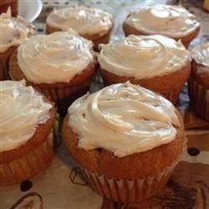 Cupcakes de plátano y de vainilla con buttercream