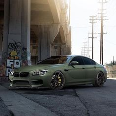 @shalizi BMW M6 rocking @zitowheels and wrapped by @impressivewrap in matte army green
