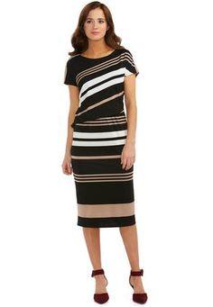 love squared plus size tie-neck a-line dress | plus size dresses