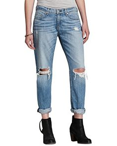 Need This:  Rag  Bone Moss Boyfriend Jeans With Holes 24