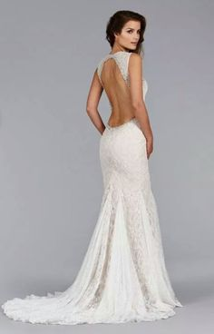 Jim Helm open back fit and flare wedding dress! Simply beautiful