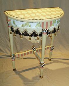 Hand Painted tables at B R I A R C O T T A G E S T U D I O F I N E A R T P A I N T I N G S