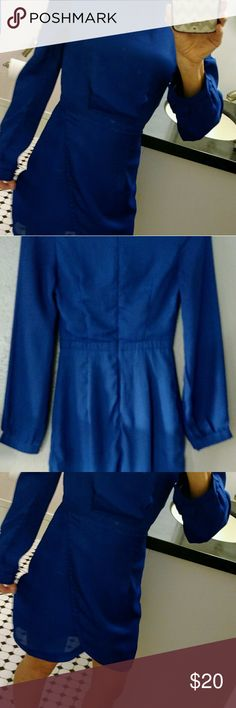 TOBI Royal Blue Dress Gorgeous fitted dress. Royal blue. Perfect for work or for parties or nights out. Tobi Dresses Long Sleeve