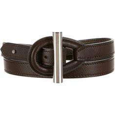 Hermes Osiris Belt ($395) ❤ liked on Polyvore featuring accessories, belts, silver, hermès, hermes belt, dark brown leather belt, silver belt and silver leather belt