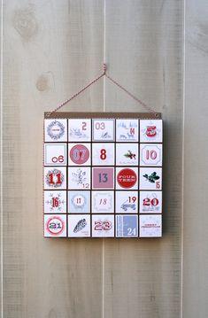 Advent Calendar / Christmas Countdown / by vintagemodernmix, $27.00