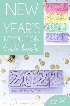 Such a fun idea for the new year! Love this New Year's Resolution tab book free download TheAppliciousTeacher.com Tools For Teaching, Free Teaching Resources, Help Teaching, Creative Teaching, Activities To Do, Classroom Resources, Teacher Freebies, Teacher Blogs, Goal Setting Activities