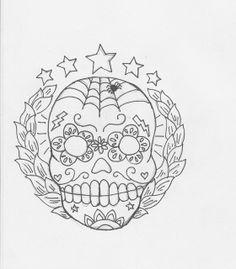 sugar skull embroidery pattern | Flickr - Photo Sharing!