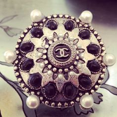 Fabulous vintage Chanel button ring!  Palm beach vintage jewelry  must have !
