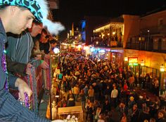 The watchers on Bourbon's balconies...
