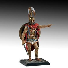 Greek hoplite officer.