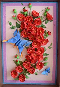rose paper quilling