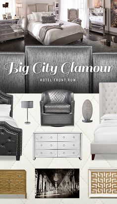 Inspired by the old school glamour of New York City, our Hotel Front Row bedroom collection exudes class and sophistication!
