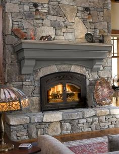 Here is a post related with fireplace ideas. Cottage Fireplace, Fireplace Shelves, Open Fireplace, Fireplace Remodel, Diy Fireplace, Fireplace Surrounds, Mantel Shelf, Fireplace Inserts, Stone Fireplace Makeover