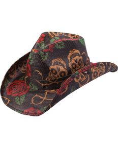 8855ff75d0f1b Peter Grimm Tainted Love Straw Cowboy Hat