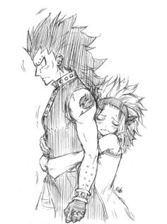 Why is Gajeel so mad? Or maybe he's just nervous???