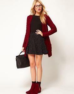 how to wear my burgundy sweater