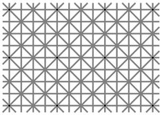 'What you're looking at is called Ninio's extinction illusion. There are twelve black dots evenly distributed on the grey smocking leaf pattern, but your brain simply won't allow you to see them all at once.'