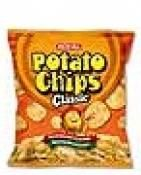 Potato Chips Classic  Thin sliced potato chips that are made from 100% real potatoes and cooked to a golden crisp.