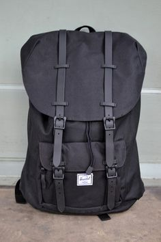 810e70489909 Herschel Little America Black Rubber Backpack
