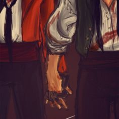 Enjolras and Grantaire | okay but this is my favorite thing in the world.