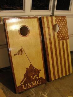 US Flag Cornhole Boards