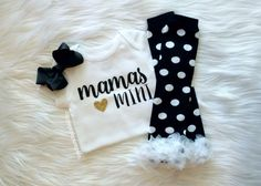 Baby Girl Clothes, Mommy and Me, Mommy's Girl, THE ORIGINAL Mama's Mini™, Leg Warmer Set, Gold Glitter Bodysuit, New Baby Gift by littlepinkpumpkin on Etsy