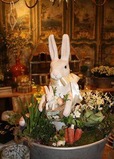 Une décoration avec des lapins