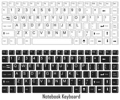 Templates Printable Free, Printable Paper, Printables, Keyboard Letters, Computer Keyboard, Free Notebook, Letter Recognition, Vector Free, Molde