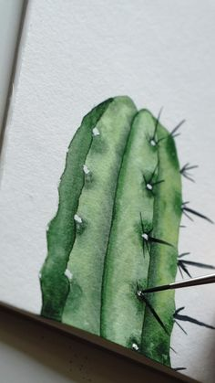 Watercolor Art Lessons, Watercolor Paintings For Beginners, Cactus Painting, Watercolor Cactus, Watercolor Art Landscape, Art Drawings Sketches Simple, Diy Canvas Art, Free Training, Watercolor Illustration