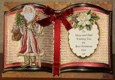 Found of Google Homemade Christmas Cards, Christmas Cards To Make, Christmas Books, Xmas Cards, Father Christmas, Crafters Companion Christmas Cards, Card Book, Shaped Cards, Cricut Cards
